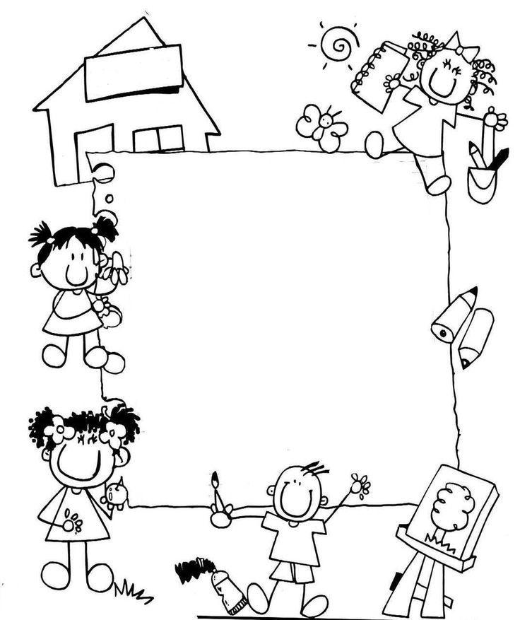 Bordes escolares en blanco y negro buscar con google - Cenefas para dibujar ...