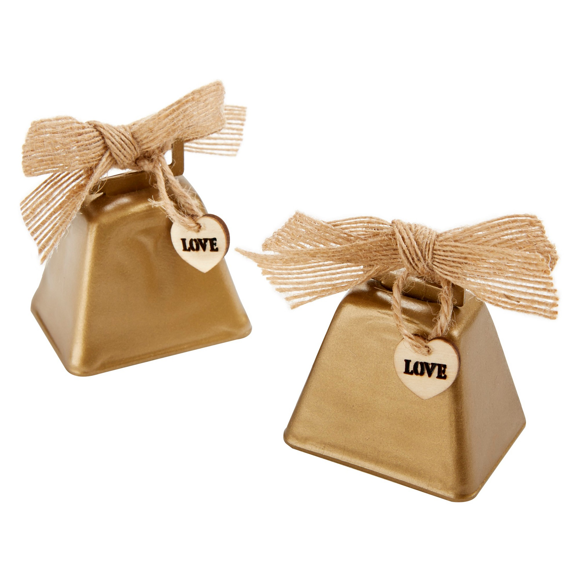 12ct Kate Aspen Country Cowbell Kissing Bell, Medium Gold | Kate ...