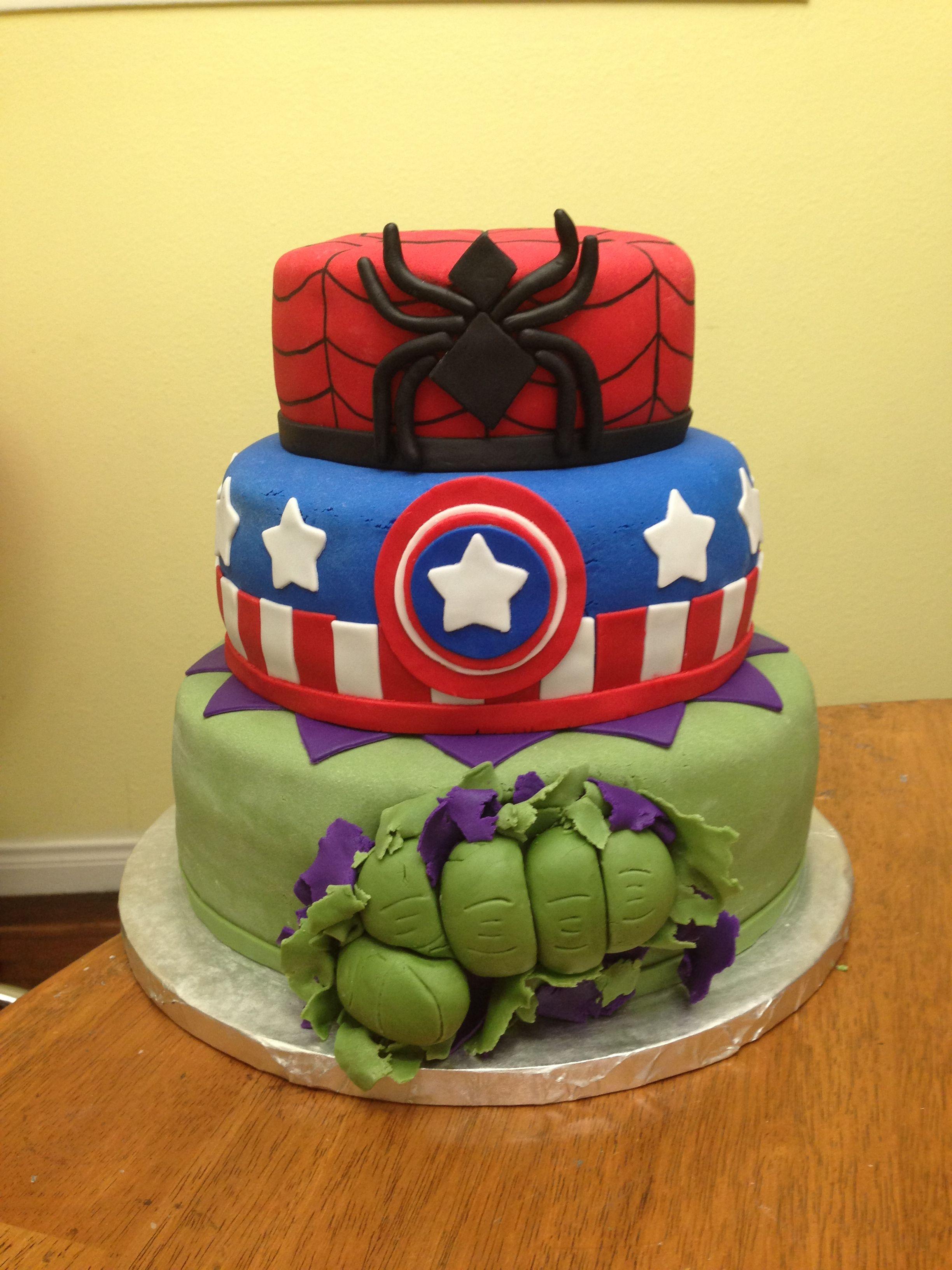 Marvel Cake Birthday Ideas Marvel Cake Cake 40th