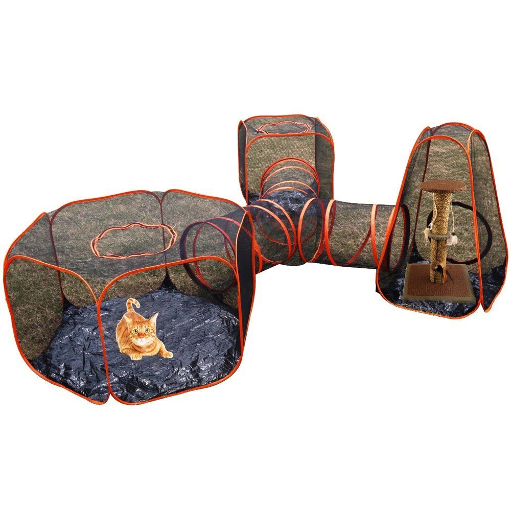4 in 1 Compound Pet Play Houses 3 Tents and 1 Triangle