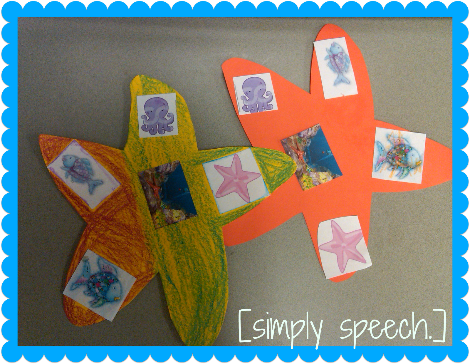 Rainbow Fish Character And Setting Activity Simply Speech