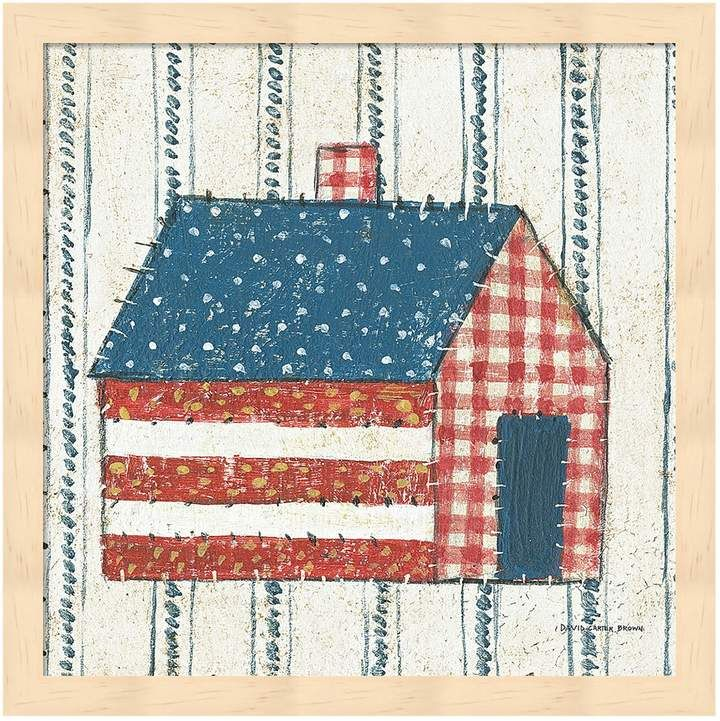 Americana Metaverse Art Quilt III Framed Wall Art is part of Framed wall art, Removable wall decals, Graphic art print, Painting prints, Americana, Art materials - PRODUCT DETAILS Pretty and patriotic, this Americana Quilt III framed wall art is a charming choice for your home  PRODUCT FEATURES Patchworkinspired design Artist David Carter Brown PRODUCT DETAILS 13 25 H x 13 25 W x 1 5 D Pine wood, glass, metal Vertical display Attached sawtooth hook Wipe clean Manufacturer's 30day limited warranty For warranty information please click here Model no  690164159395 Promotional offers available online at Kohls com may vary from those offered in Kohl's stores