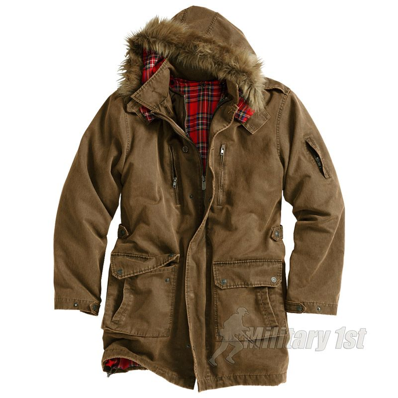 Clearance Sast Mens Armored Jacket Parka Long Sleeve Jacket Surplus Low Price Fee Shipping Excellent 5zvED9