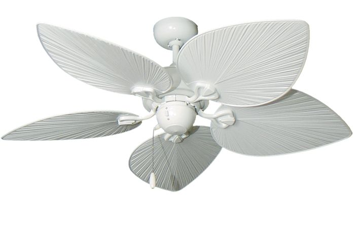 42 Inch Ay Pure White Tropical Ceiling Fan With