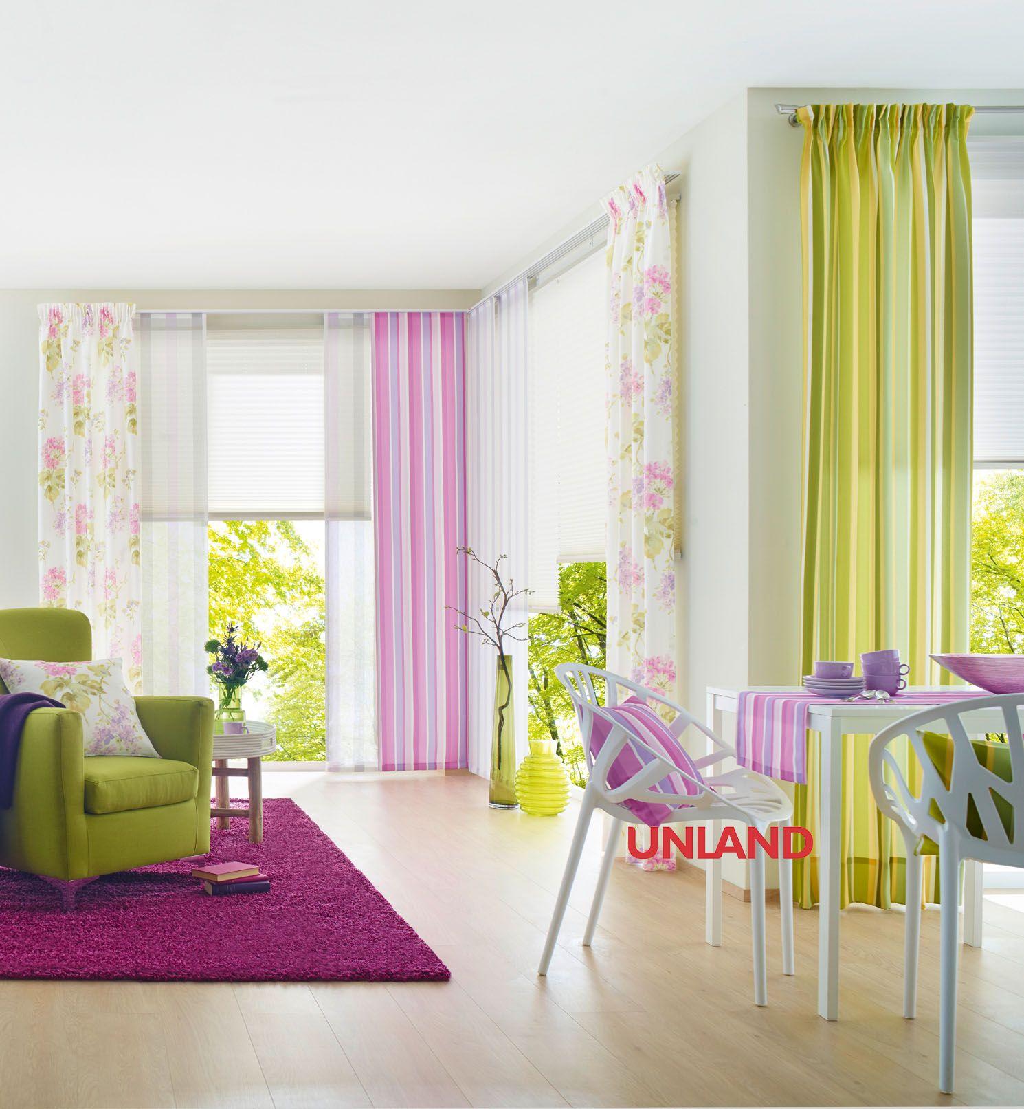 Unland FlowerStripes, Vorhang, Fensterideen, Gardinen und