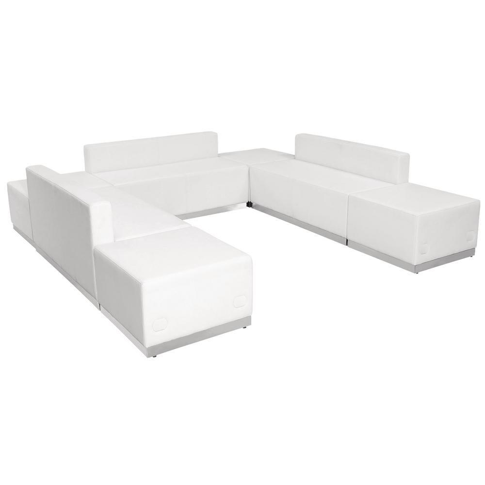 Best Carnegy Avenue 7 Piece Melrose White Living Room Sets 400 x 300