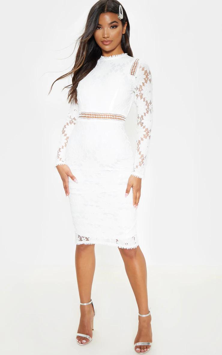 Caris White Long Sleeve Lace Bodycon Dress Bodycon Dress Lace Bodycon Dress Lace Bodycon Dress Long Sleeve [ 1180 x 740 Pixel ]