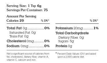 Nutrition Facts | Sugar In The Raw | Liquid Cane | Ingredient: turbinado sugar, water, natural flavor | #whatsugar #sugarintherawliquidcane