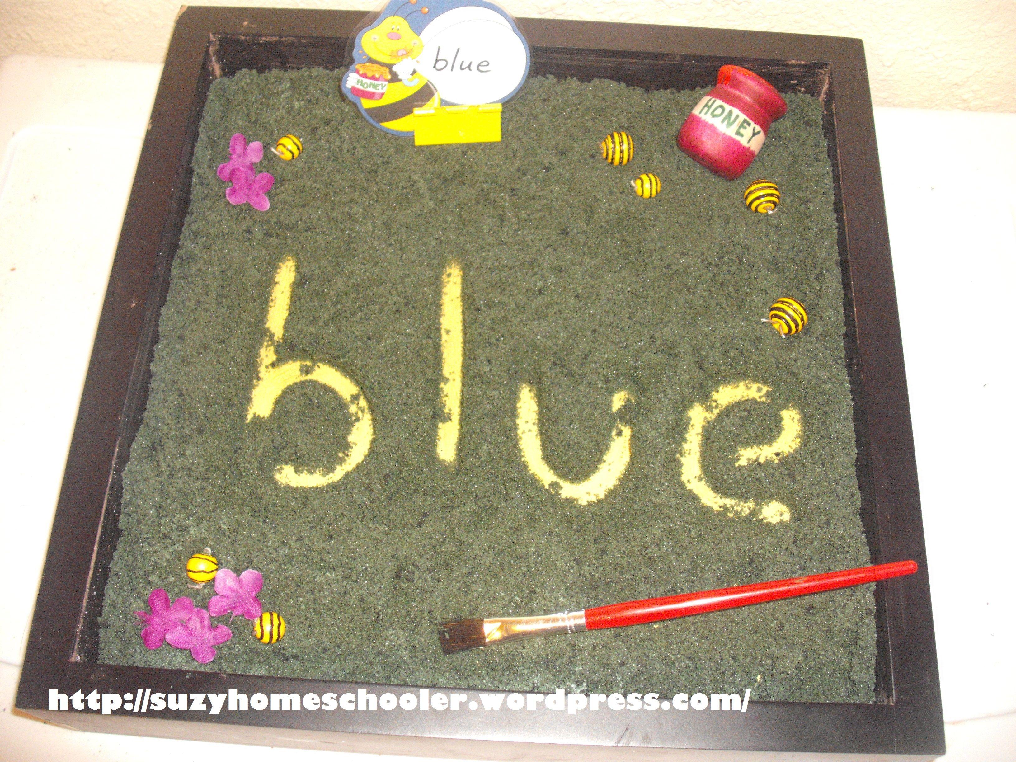 Sight Word Bee Writing Practice Salt Tray 3