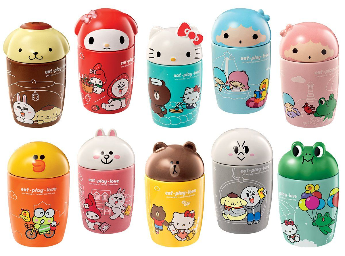 7 eleven brings sanrio and line character collectible mugs