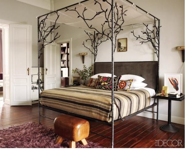 Wrought Iron Bed Frame IKEA | Wrought iron branch canopy bed frame... |