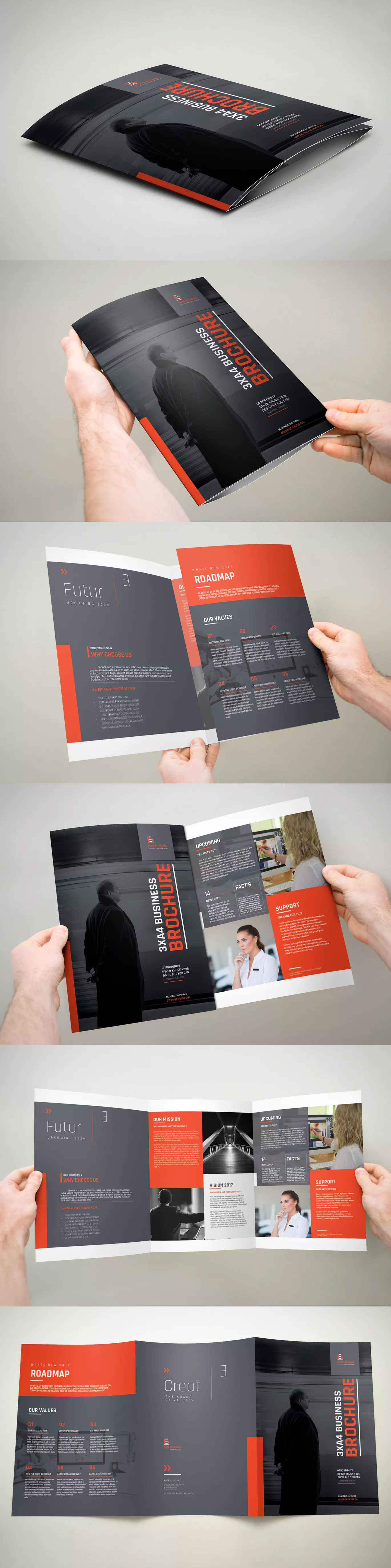 3xA4 Trifold Brochure Template InDesign INDD - A4 | Brochure ...