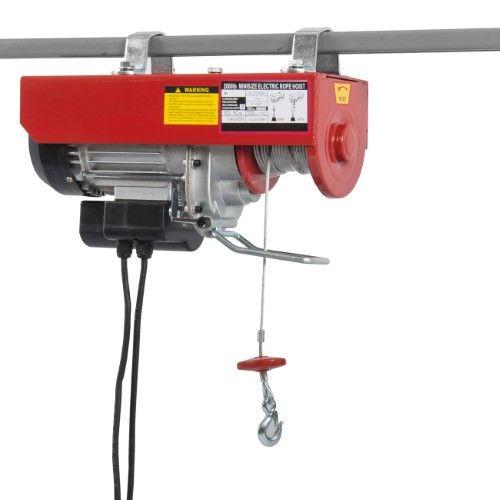 Arksen C Electric Hoist Motor Overhead Winch Crane Lift W Remote Control 2000 Lb Capacity Crane Lift Hoist Electric Winch
