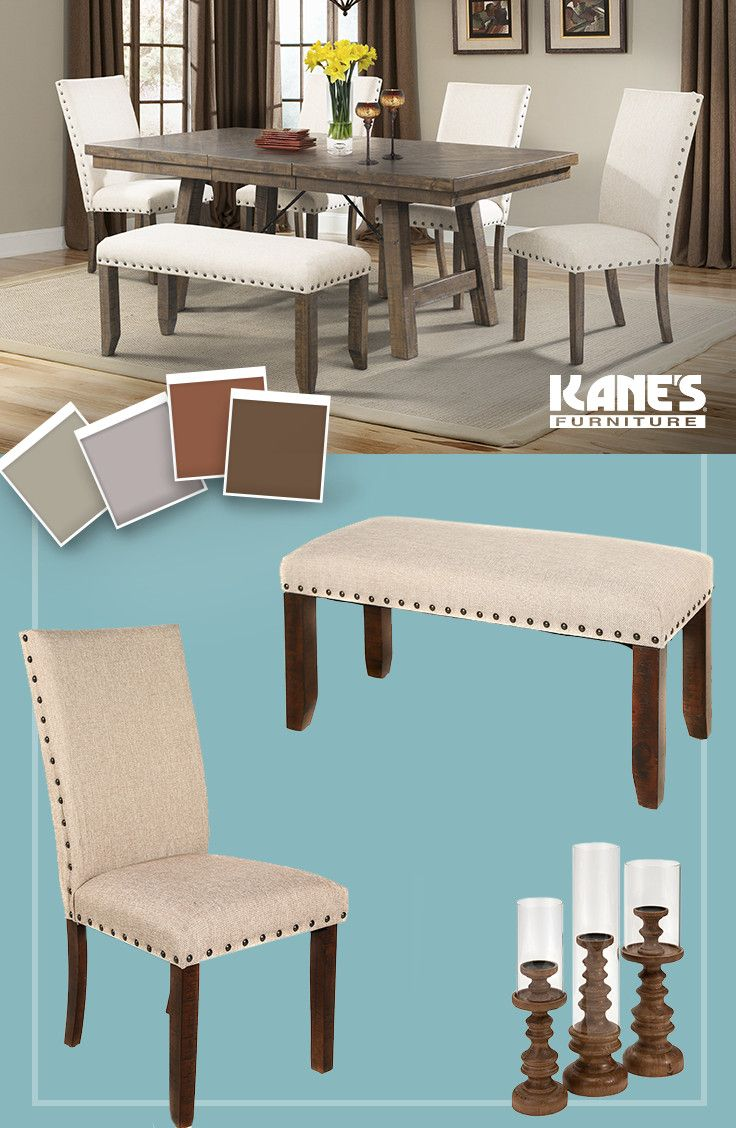 Trestle Table · Acacia Wood · Nailhead Trim · Upholstered Looks Are All The  Rage Right Now, So Keep Your Home Fashion Forward With
