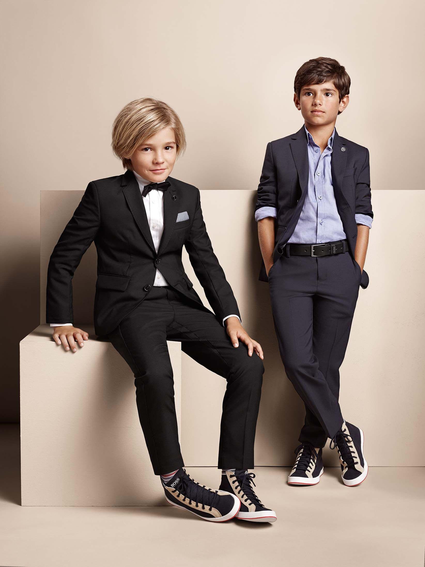 elegant suits boss - fashion for boys - mode enfant garcon
