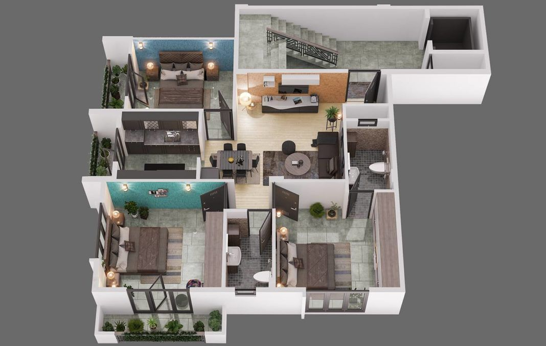Wonderful 3 Bedroom Home Plans Amazing Architecture Magazine House Plans 3d House Plans Sims House Design