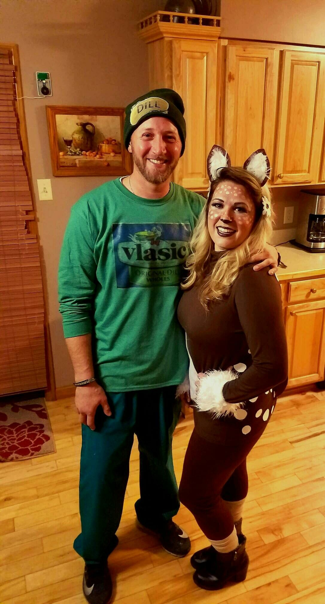 ee48686ab3 Dill-Doe Costume | Halloween | Pickle costume, Couple halloween ...