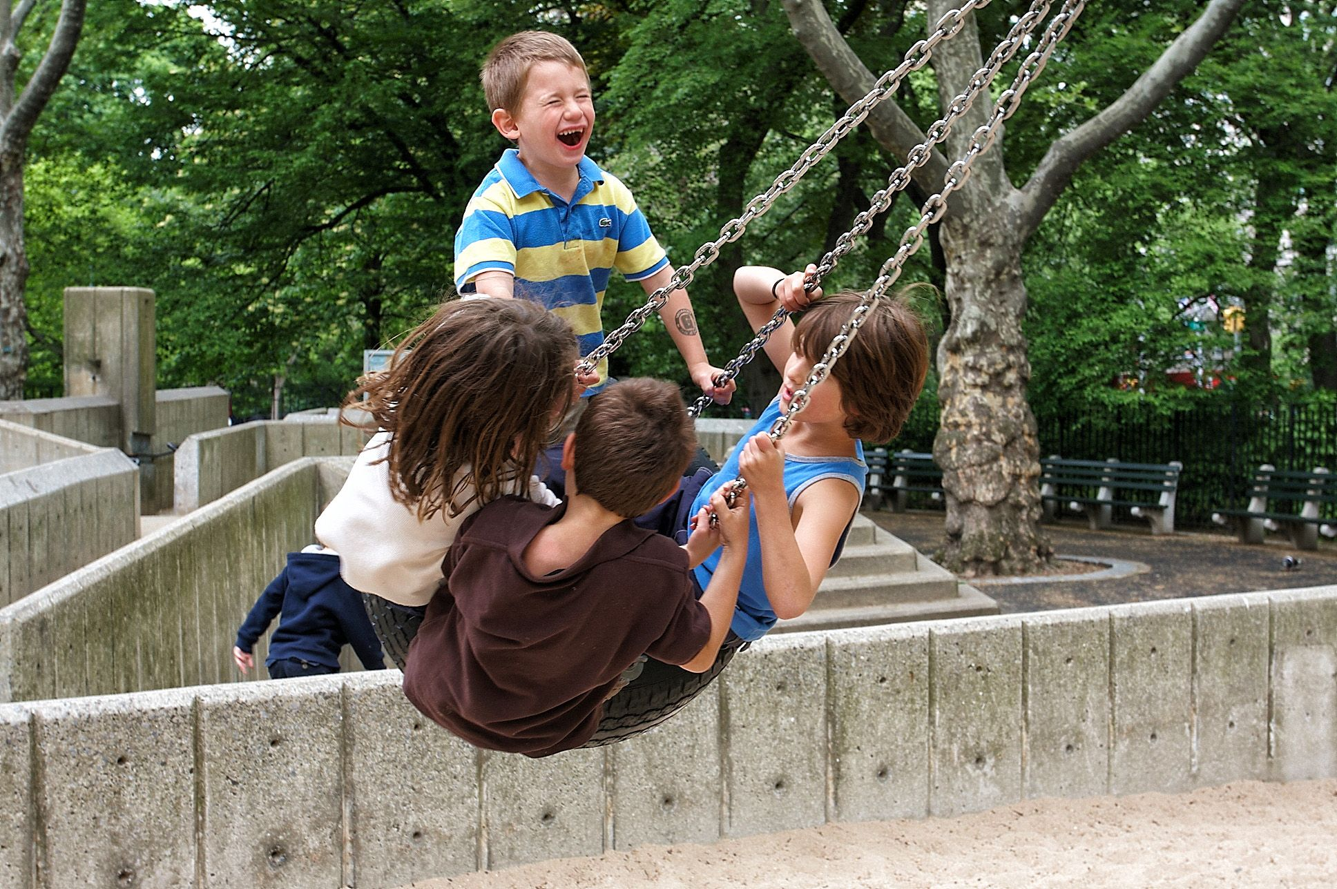 Tire swing! Photo by Michael Jurick #centralplay #centralpark #playground