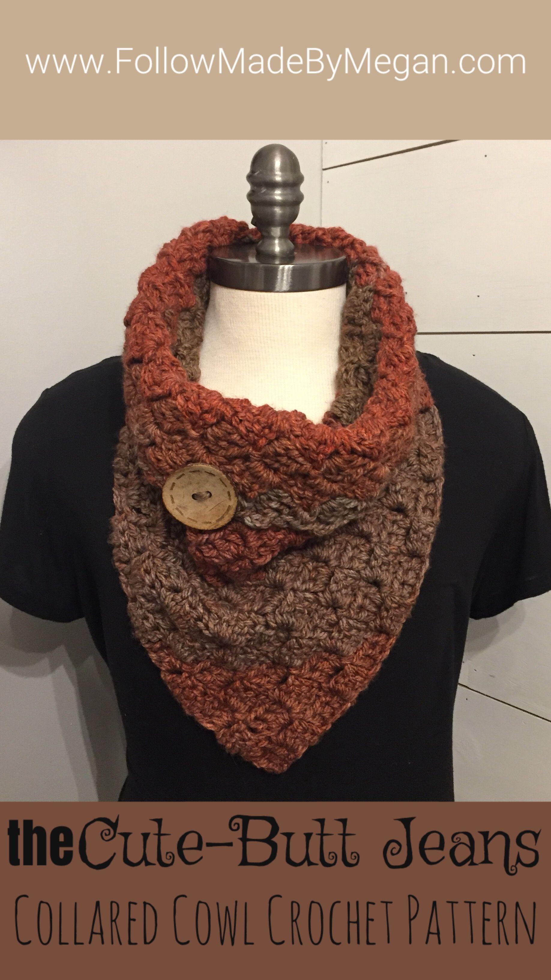 Crochet Pattern for Caron Tea Cakes Collared Cowl | Crochet scarves ...