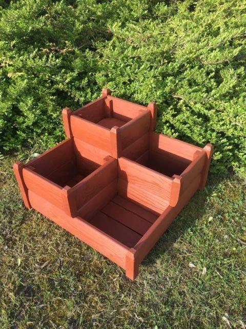 Genial Three Tiered Garden Planter, Garden Planter, Wooden Planter, Garden  Plantpot In Garden U0026