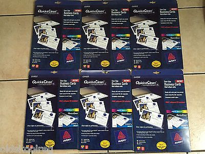 6x Avery C32015 10 Business Card Printing Paper 480 Cards Matt