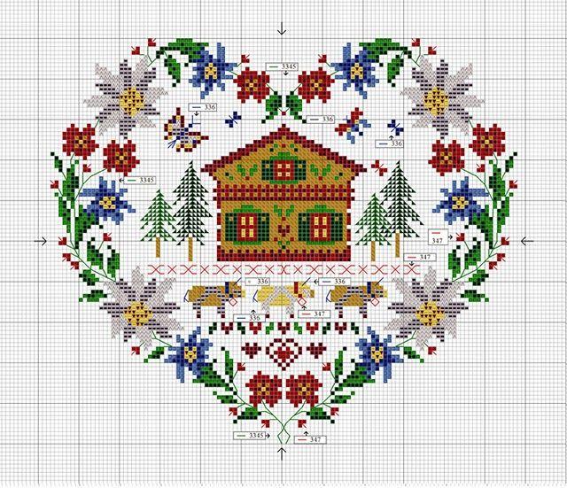 diagrama de punto de cruz | Cross stitch various, Punto croce misti ...