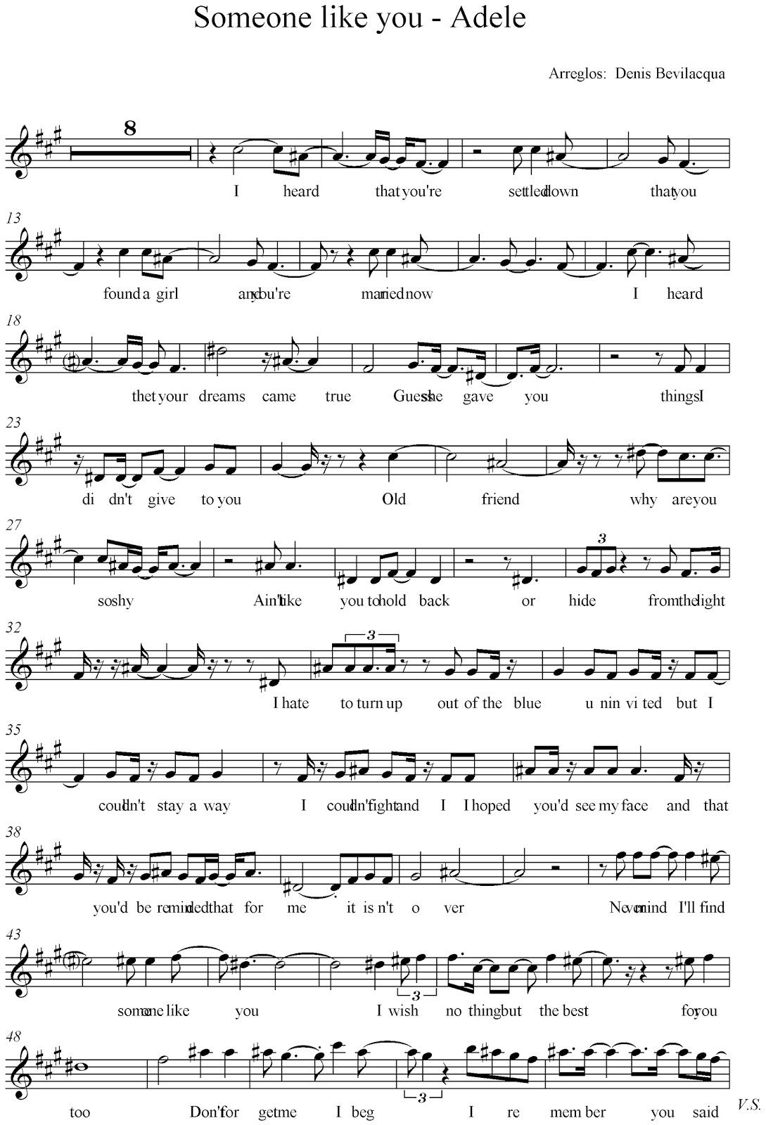 Someone Like You Music Sheets With Images Sheet Music Someone