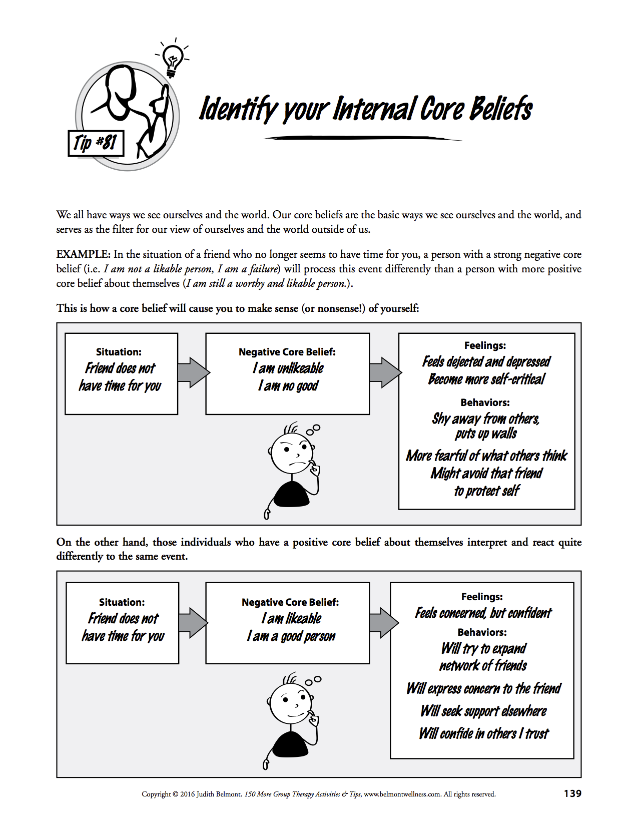 Take The Quiz Feel Good And Think In Healthy Ways With The Help Of This Worksheet From 150