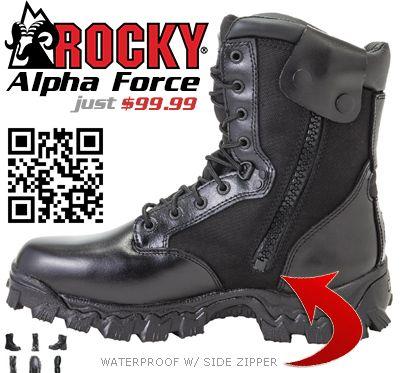 39739924ec2 Rocky Alpha Force Zipper Waterproof Duty Boot | Rocky Military ...