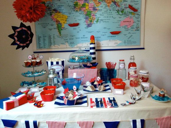 Ideas mesas de chuches google search mesas dulces for Decoracion nautica infantil