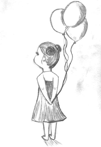 Balloons Art Print In 2020 Art Drawings Simple Pencil Drawings