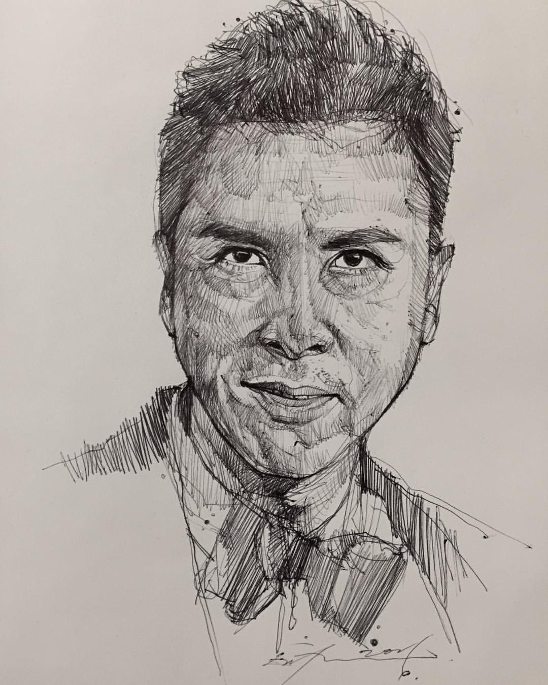 Alvin Chong - Ball point pen of Donnie Yen #artofalvin ...