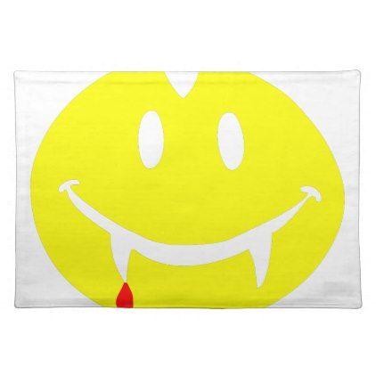vampire emoji dracula placemat | Zazzle com | emoji
