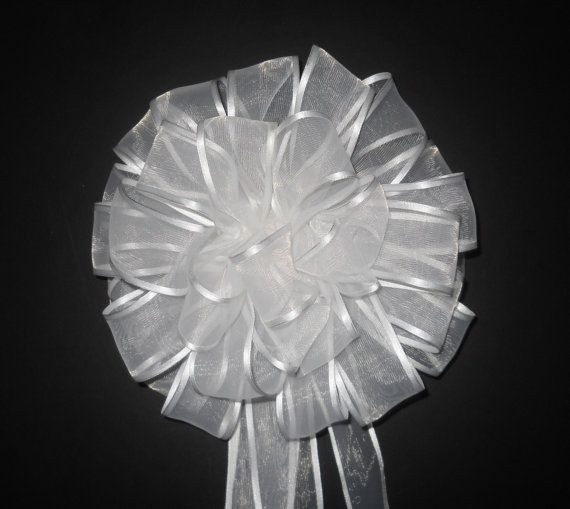 Hand Tied Off-White Wedding Pew Bows Lot of 6 by FlowersandFrills