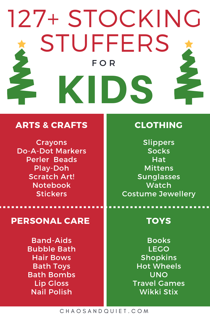 127+ Stocking Stuffers for Kids | Chaos & Quiet