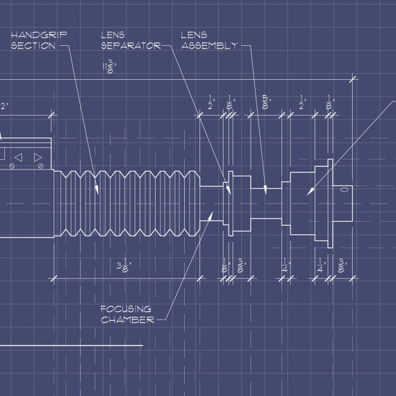 Star wars art lightsaber blueprint luke by greyheartdesign on etsy star wars art lightsaber blueprint luke by greyheartdesign on etsy malvernweather Image collections
