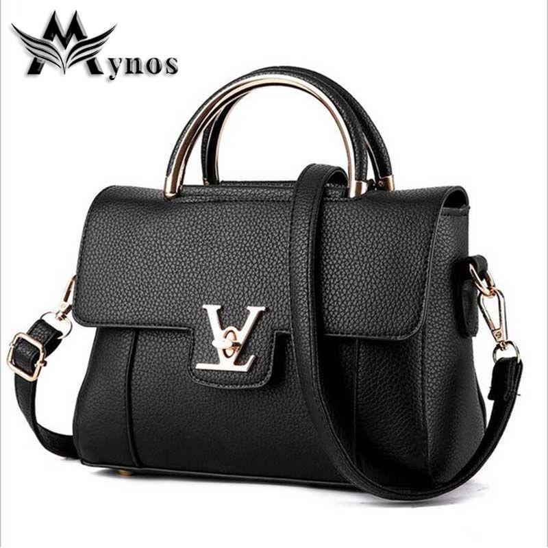 c94da69bae12 Leather · Mynos High Quality Designer Leather Handbag Crossbody Bag For Women  Messenger Bag Ladies Shoulder Top Handle · Black Clutch BagsLeather ...
