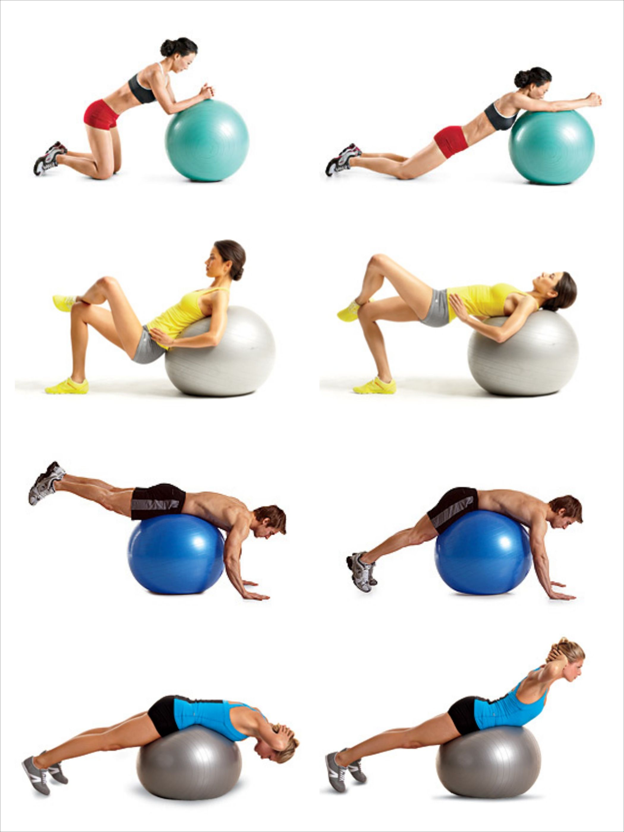 Swiss ball exercises Ejercicios Con Balon 8dea5b449a96