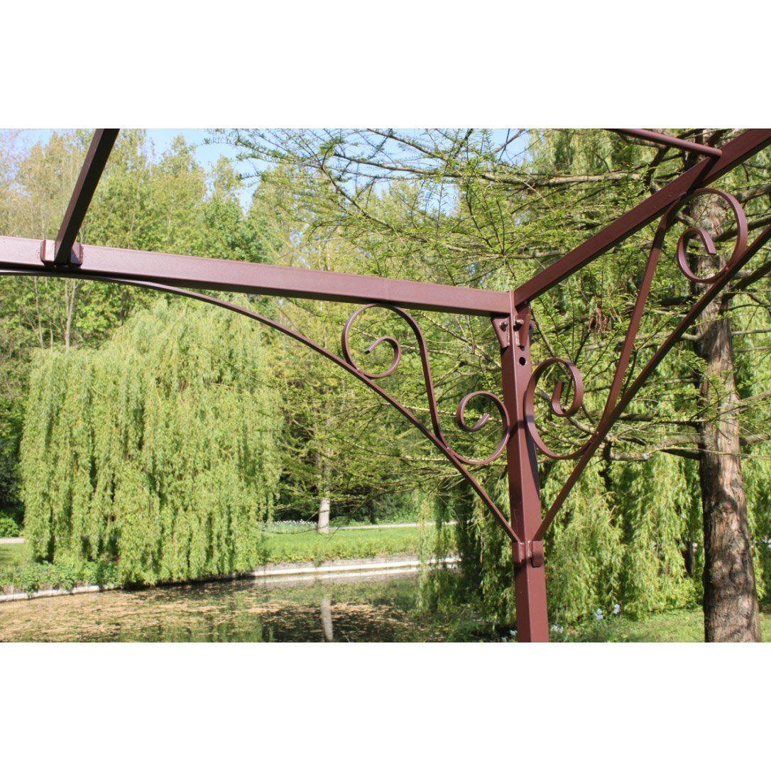 Pergola Autoportante Andalouse Fer Forge Rouille 12 M Pergola Pergola Fer Amenagement Jardin