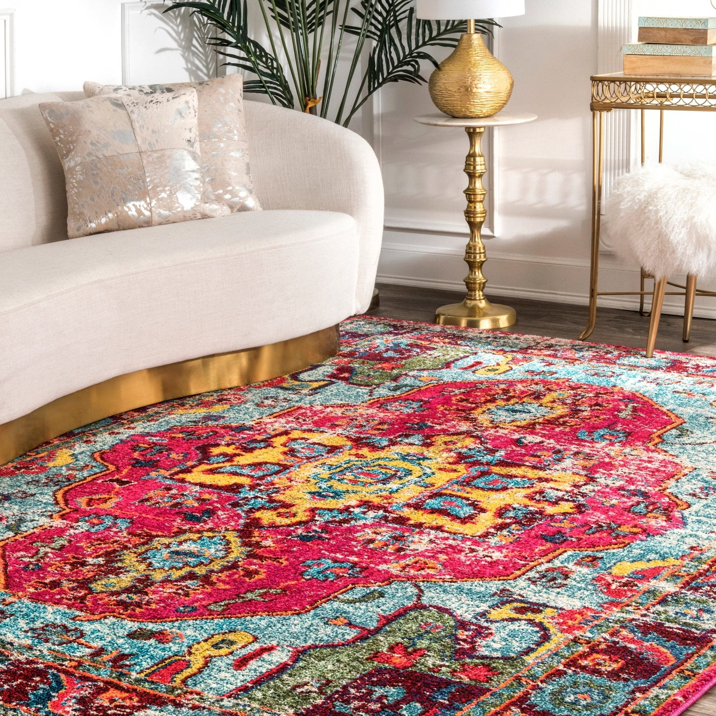 The Curated Nomad Beulah Abstract Vintage Oriental Rug 9