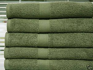 Color Verde Olivo Olive Green Bath Towels Green Bath Towels