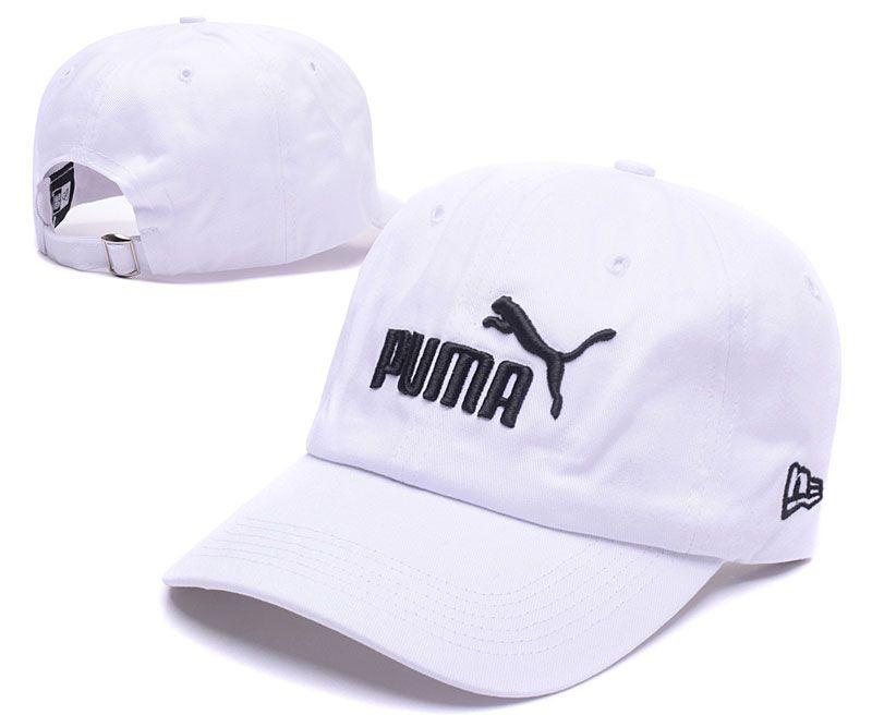 bd772e1122b Men s   Women s Puma Lion 3D Embroidery Logo Adjustable Dad Hat - White    Black
