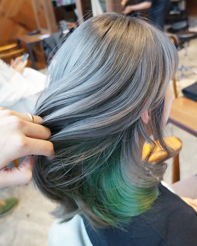 Earl Grey Green Inner Color A Gorgeous Hair Color Combination