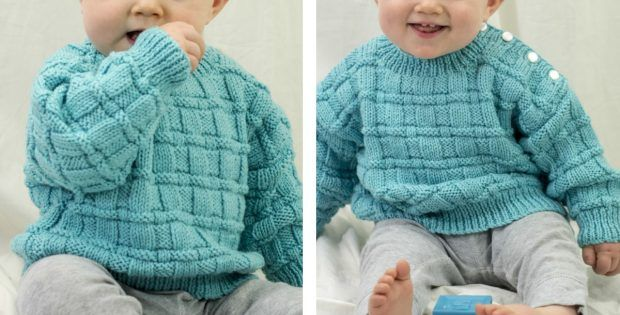 Daniel Knitted Baby Pullover [FREE Knitting Pattern]