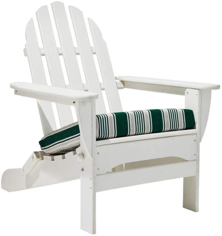 L L Bean L L Bean Casco Bay Adirondack Chair Seat Cushion Stripe