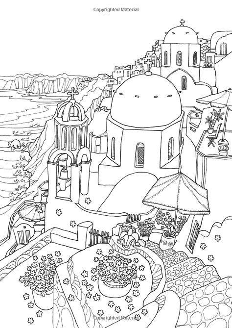 Coloring Europe: Magical Greece: A Coloring Book Tour of ...