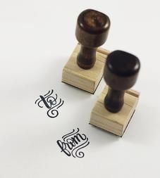 To & From Hand-Lettered Stamps, Set of 2