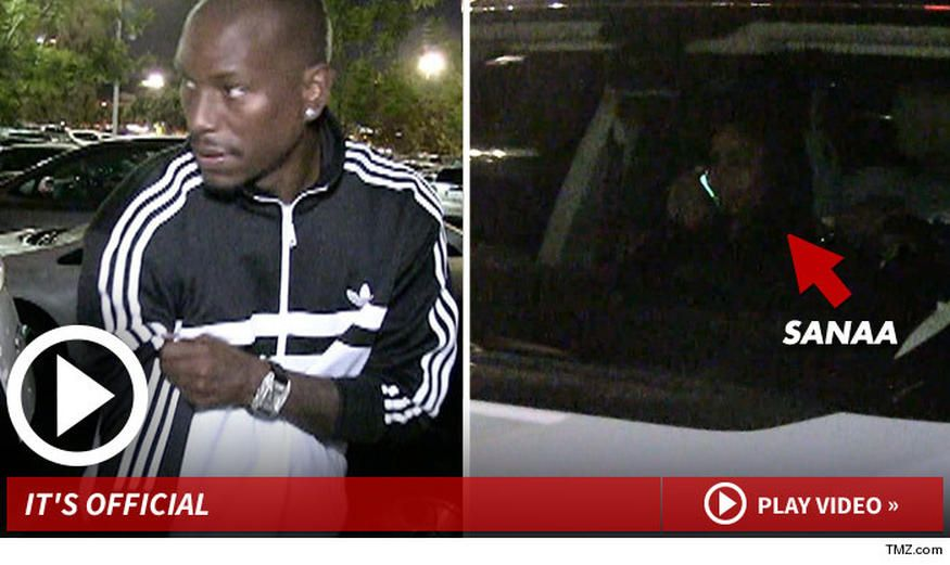 Tyrese Gibson almost made a clean getaway with his new GF -- almost -- but we got the shot of him out on a date with Sanaa Lathan ... the first shot of the new power couple.  Sources close to the pair tell TMZ ... Tyrese and Sanaa had dinner at Pizzeria Mozza in Hollywood on Monday, but no one got pics or video. Then on Wednesday night they hit the Cheesecake Factory in Topanga ... and our camera guy spotted them.  Tyrese was tight-lipped, but Sanaa was in the passenger seat as they left…
