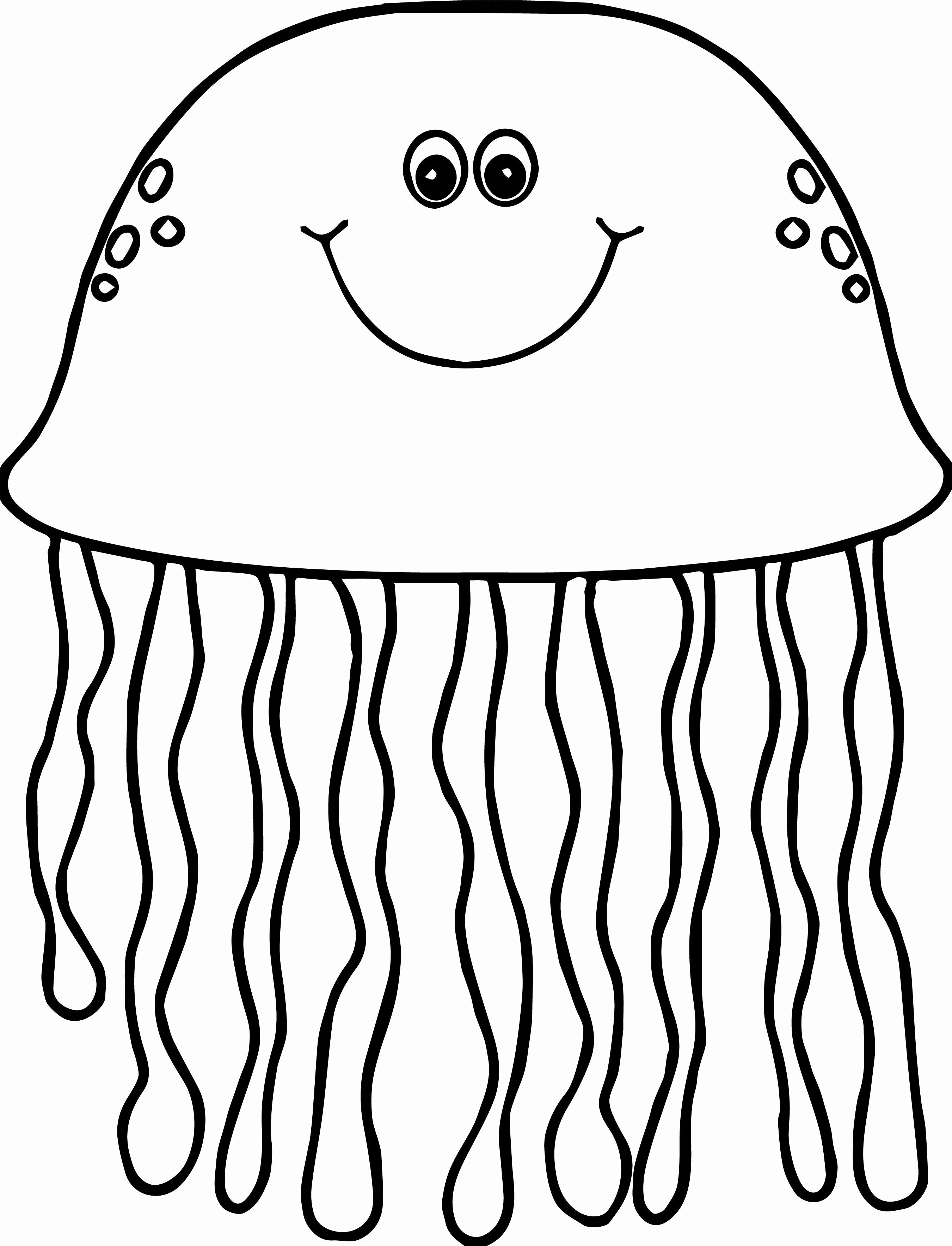 24 Jelly Fish Coloring Page In