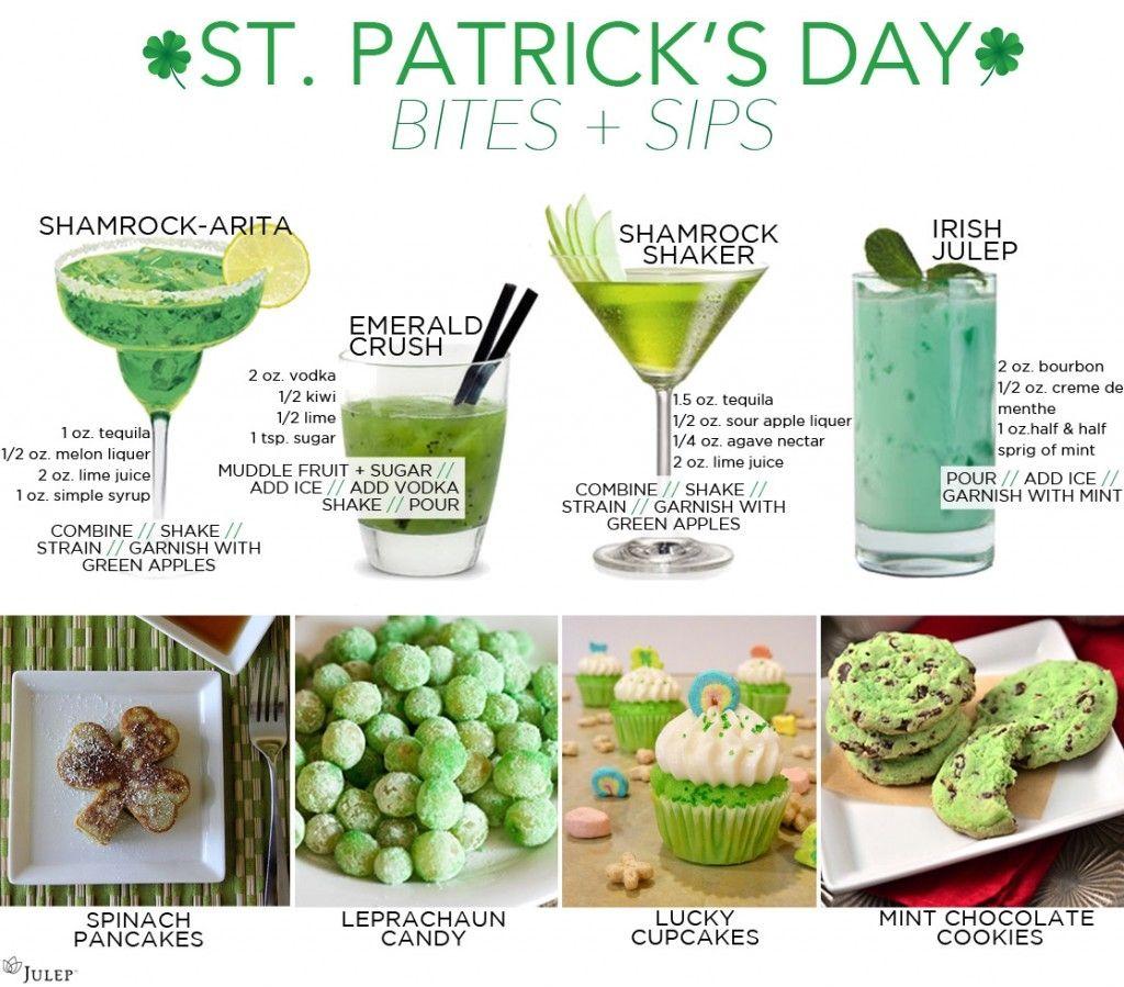 St Patrick's Day Drinks And Treats Recipes St Patricks Day